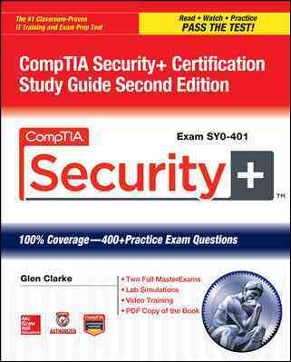 Comptia Security+ Certification (Exam Sy0-401) By Clarke, Glen