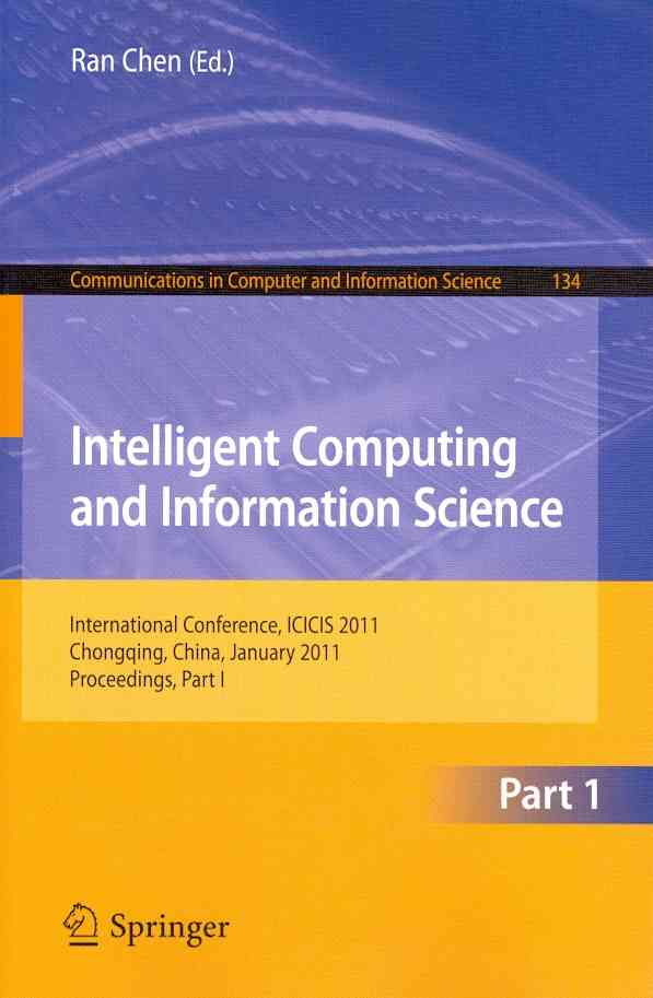Intelligent Computing and Information Science By Chen, Ran (EDT)